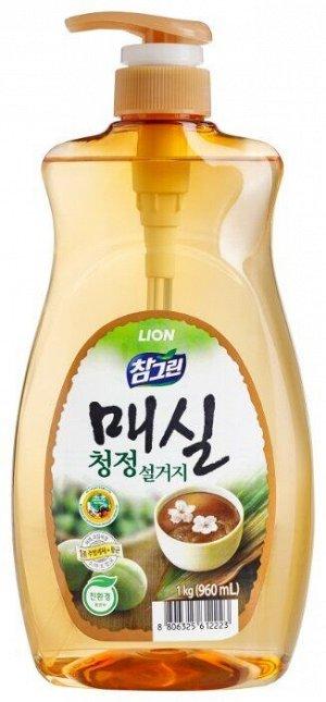 Ср-во д/посуды LION Korea CHAMGREEN 1кг Японский абрикос (дозатор)