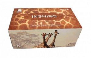 "Салфетки в коробке  INSHIRO SilkFlower ""Animal collection""   2-х. сл.белые (250 шт.) 1/3/48 SF037"