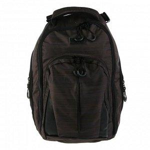 Рюкзак молодёжный, Luris «Спринт 3», 42 x 29 x 16 см, эргономичная спинка, коричневый