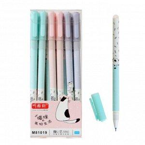 Ручка гелевая ПИШИ-СТИРАЙ стержень синий 0,35мм, корпус с рисунком МИКС (штрихкод на штуке)
