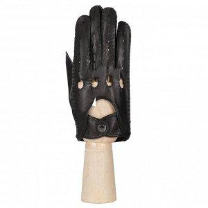 Перчатки мужские, кожа, FABRETTI 2.92-1N black