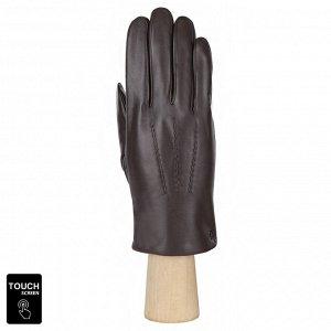 Сенсорные мужские перчатки FABRETTI S1.36-2 chocolate