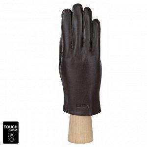 Сенсорные мужские перчатки FABRETTI S1.35-2 chocolate