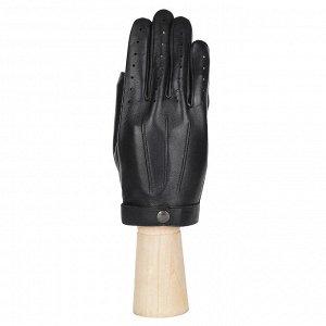Перчатки на шёлке, из кожи ягненка, син. FABRETTI 12.84-1S black
