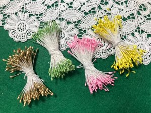 Тычинки для создания цветов мелкие двухсторонние 3гр