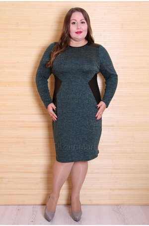 Платье 3078-3 темного зеленого цвета