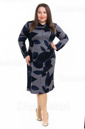 Приталенное платье 0948-1 для полных женщин