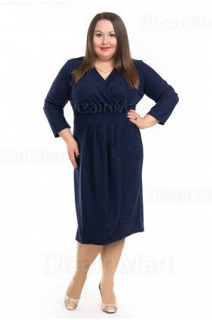 Темно-синее платье 0947-2 большого размера