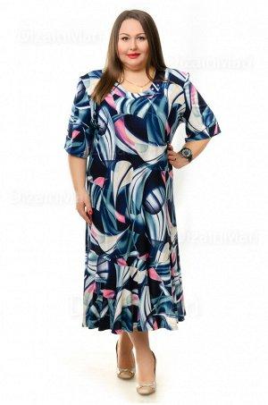 Элегантное платье 75129-2 со стильным принтом
