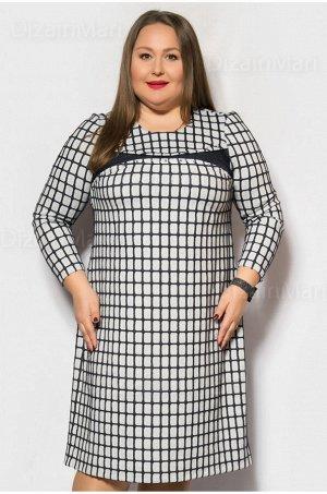 Платье 502 Описание товара: Платье для полных женщин, светло серого цвета, прямого кроя, в клетку. Состав ткани трикотажное полотно : вискоза 40%,полиэстр 40%,эластан20% производство ткани Корея.