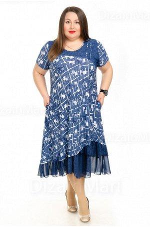 Оригинальное платье 210013-1 с геометрическим узором