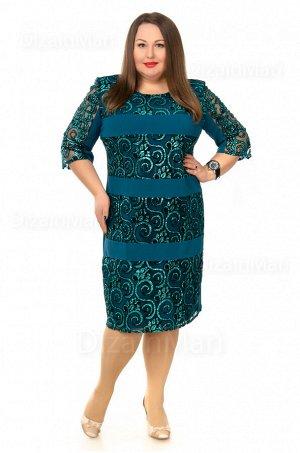 Платье 55744-4 цвета морской волны