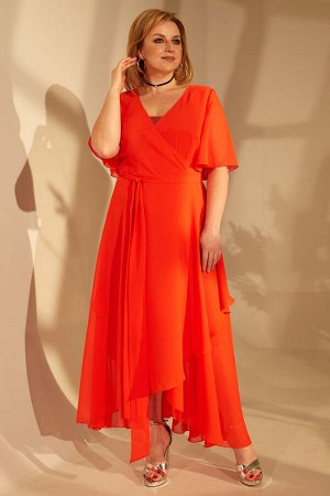 Платье Платье Golden Valley 4684 №4  Состав ткани:Платье: ПЭ-100%; Платье: ПЭ-95%; Спандекс-5%;  Рост: 164 см.  Платье полуприлегающего силуэта, двухслойное, верхний слой- отрезное по линии талии, с