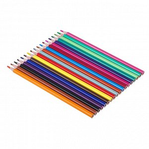 ClipStudio Карандаши 18 цветов шестигранные заточ., пластик, улучшенное письмо, в карт.коробке