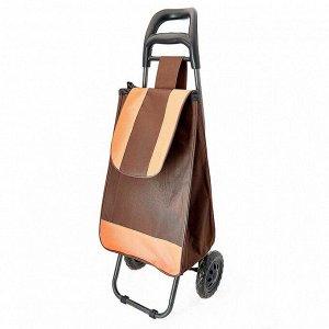 Тележка багажная ручная 25 кг DT-20 коричневая с оранжевым