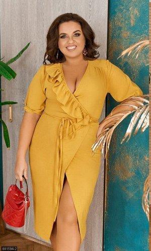 Платье 881594-2 жёлтый Весна-Лето Украина