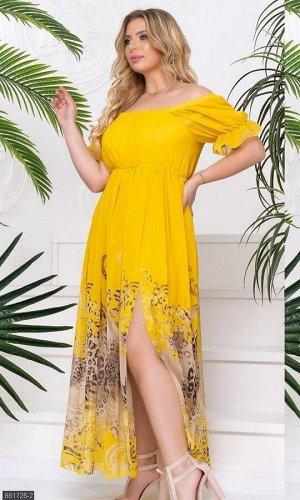 Платье 881726-2 желтый Лето Украина
