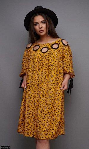 Платье 881747-3 желтый Лето Украина