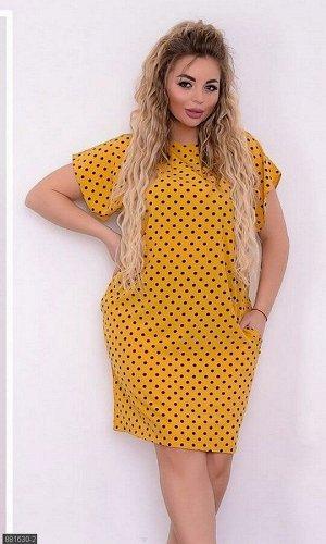 Платье 881630-2 жёлтый Лето Украина