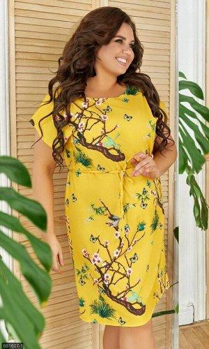 Платье 881607-1 жёлтый Весна-Лето Украина