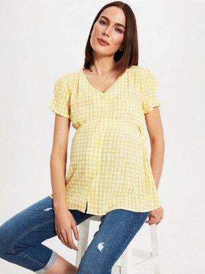 Сорочка Тип товара: Рубашки; Блузки и Туники РАЗМЕР: L, M, S, XL, XXL; ЦВЕТ: Yellow Printed СОСТАВ: Основной материал: 100% Вискоза