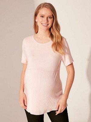 ФУТБОЛКА Тип товара: Рубашки; Блузки и Туники РАЗМЕР: L, M, S, XL, XXL; ЦВЕТ: Light Pink СОСТАВ: Основной материал: 97% Вискоза 3% Эластан