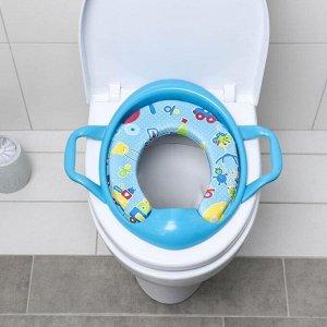 Сиденье для унитаза детское с ручками «Детство», 38?40 см, цвет синий