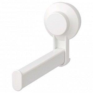 Держатель туалетной бумаги на присоске ТИСКЕН, цвет белый