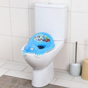 Детская накладка - сиденье на унитаз «Машинки» нескользящая, цвет голубой