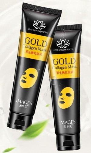 Золотая маска пленка для лица с коллагеном