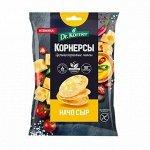 Dr.Korner Чипсы цельнозерновые 50г  кукурузно-рис. с сыром начо