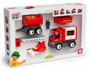 Спецтехника: пожарная машина, игровой набор, 8 предметов, пластмасса13