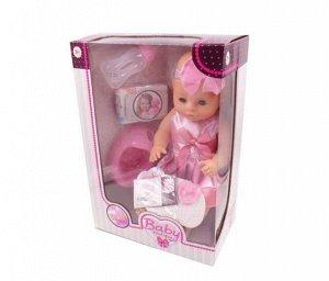 Кукла Baby boutique Пупс 40см, пьет и писает, в ассортименте 2 вида, в наборе с аксессуарами362