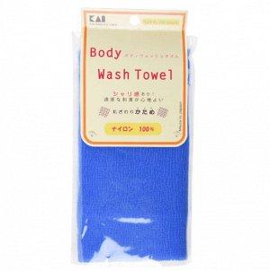 "27302kai ""Body Wash Towel"" Мочалка для тела жесткая (синяя)"
