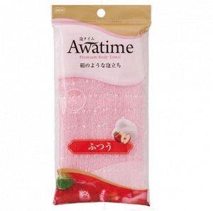 "613722 ""OHE"" ""Awatime"" Мочалка д/созд. болш. кол-ва пены средней жёсткости 100 см. (розовая), 1/180"