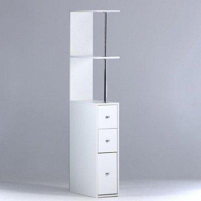 Красивая и удобная ванная: Мебель, смесители, аксессуары — Пеналы для ванной комнаты