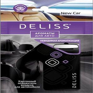 Подвесной картонный ароматизатор для автомобиля Deliss серии New Car