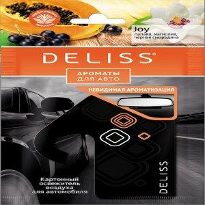 Подвесной картонный ароматизатор для автомобиля Deliss серии Joy
