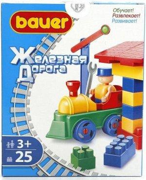 Конструктор Bauer серии Железная дорога 25 эл. (в коробке)
