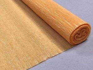 Гофра Китай, 250*50 см № 27 светло-оранжевый