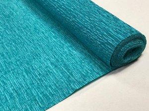 Гофра Китай, 250*50 см блестящий зеленовато-синий