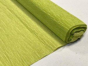 Гофра Китай, 250*50 см, № 18 грушево-зеленый