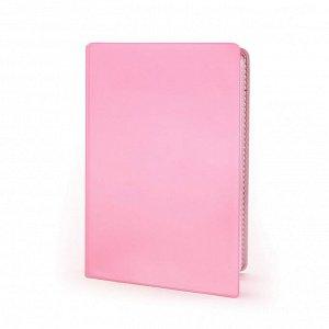 Визитница для 20 карт, сетло-розовая, 67*100