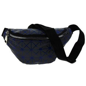 Поясная сумка детская светоотражающая (синяя полоска),