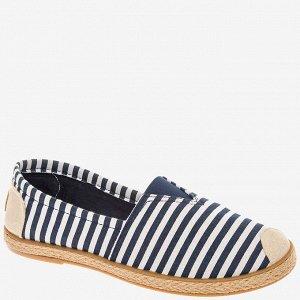 407033/01-01 синий/белый текстиль женские туфли