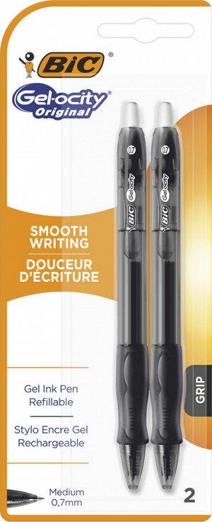 Ручка гелевая BIC Gel-Ocity Original Блистер x2 черный