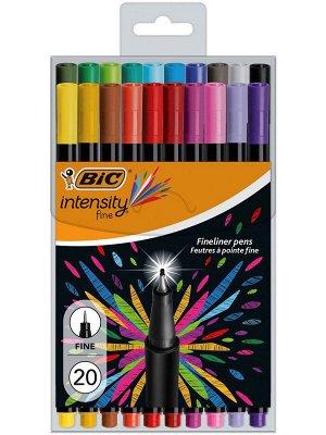 Капиллярная ручка BIC Intensity Fine Блистер x20