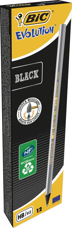 Карандаш чернографитовый BIC Evolution ECOlutions Black