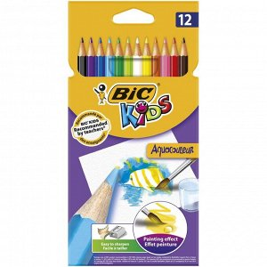 Карандаши цветные BIC Kids Aquacouleur Коробка x12