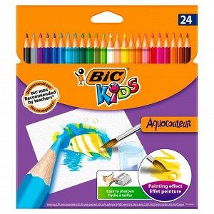 Карандаши цветные BIC Kids Aquacouleur Коробка x24